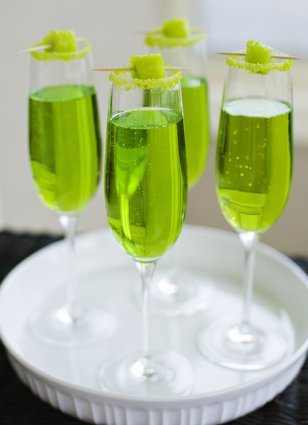 Sparkling Shamrock | Green Cocktail Recipes For St. Patrick's Day